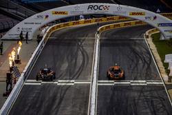 Tom Kristensen and Juan Pablo Montoya driving the ROC Car