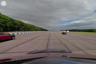 Tesla Model X races Jaguar I-Pace in 360