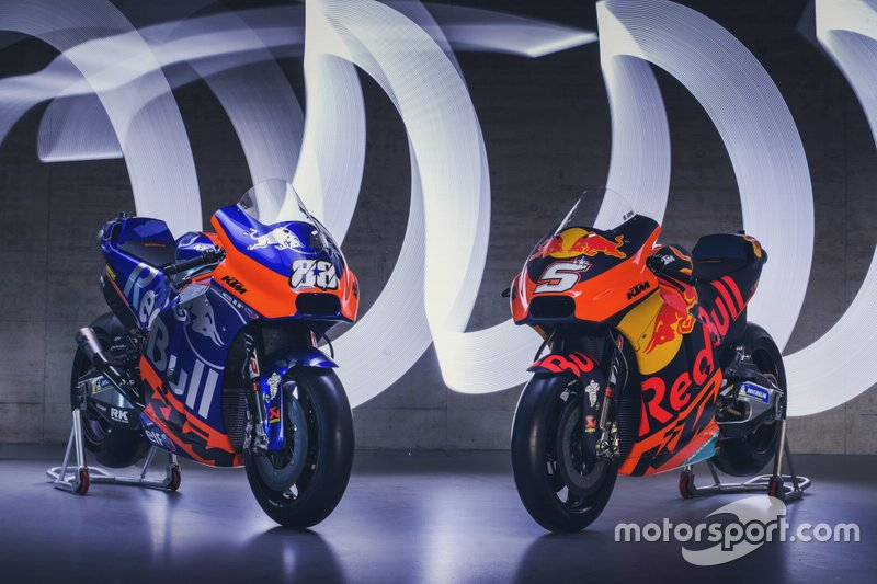 Le moto di KTM Tech 3 Racing e Red Bull KTM Factory Racing
