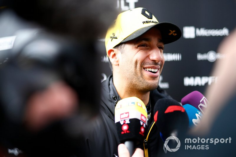 Daniel Ricciardo, Renault F1 Team talks with the media