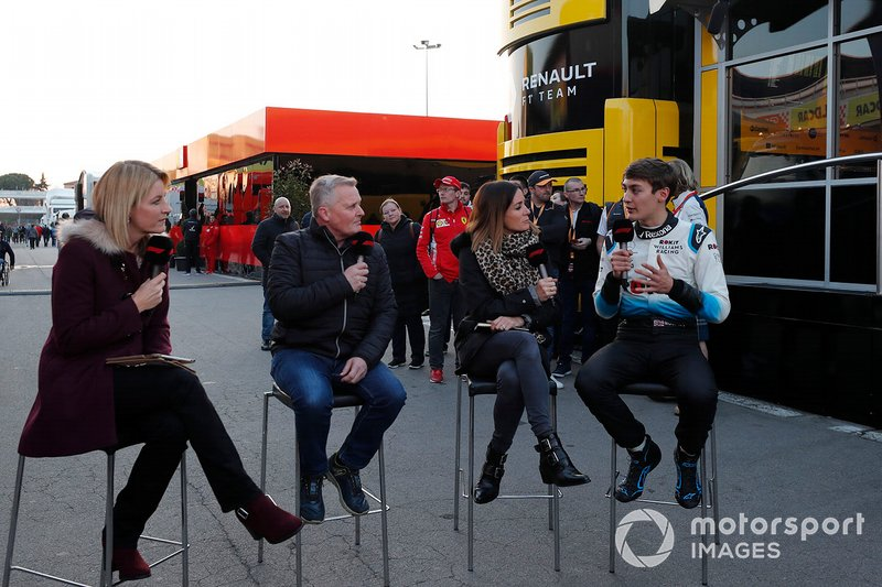 Rachel Brooks, Sky TV, Johnny Herbert, Sky TV, Natalie Pinkham, Sky TV e George Russell, Williams Racing