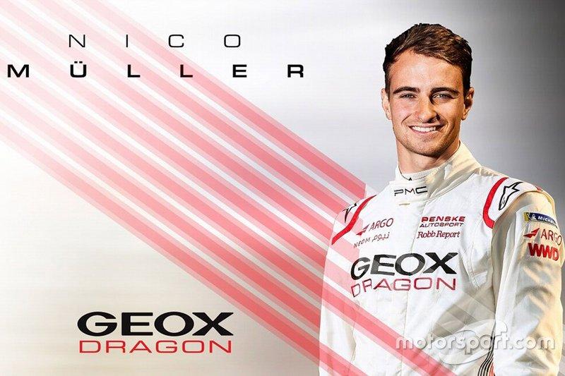 Annonce de Nico Müller chez Dragon Racing