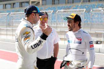 Jimmie Johnson, Zak Brown, Fernando Alonso