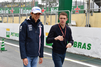 Esteban Ocon, Racing Point Force India et Paul di Resta, Sky TV