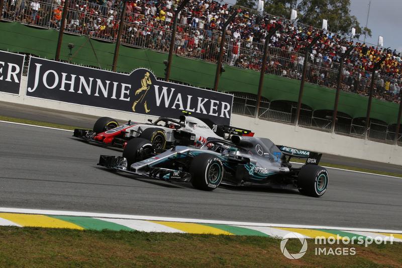 Кевін Магнуссен, Haas F1 Team VF-18, Валттері Боттас, Mercedes AMG F1 W0