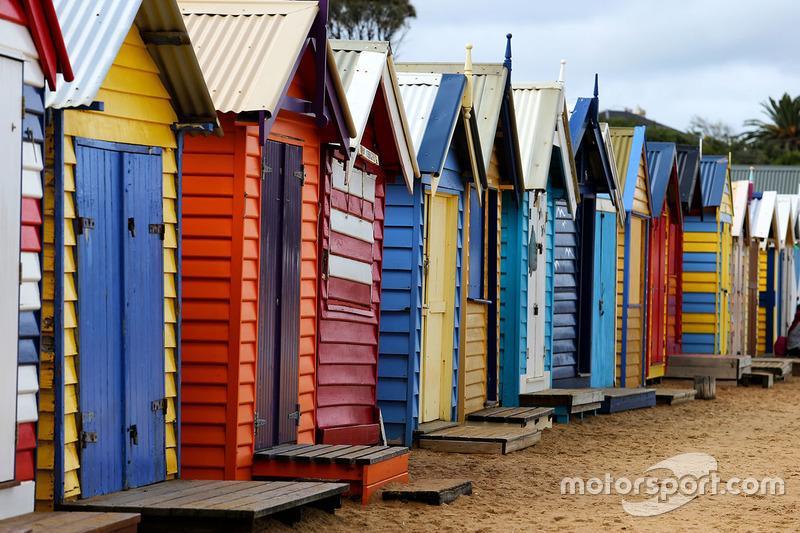 Playa Cabañas en la playa de Brighton