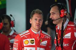 Sebastian Vettel, Ferrari et Riccardo Adami, ingénieur de course