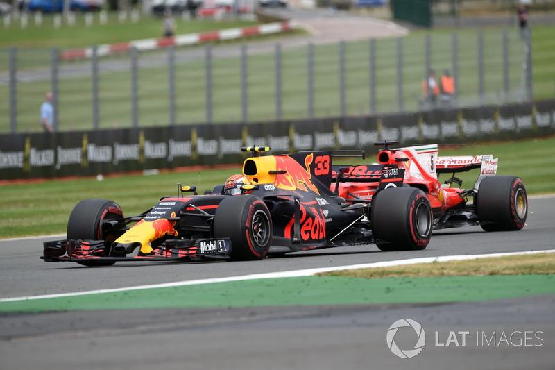 Макс Ферстаппен, Red Bull Racing RB13, Себастьян Феттель Ferrari SF70H