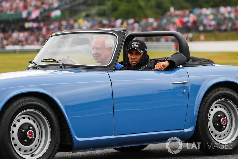 Sergio Perez, Sahara Force India en el desfile de pilotos
