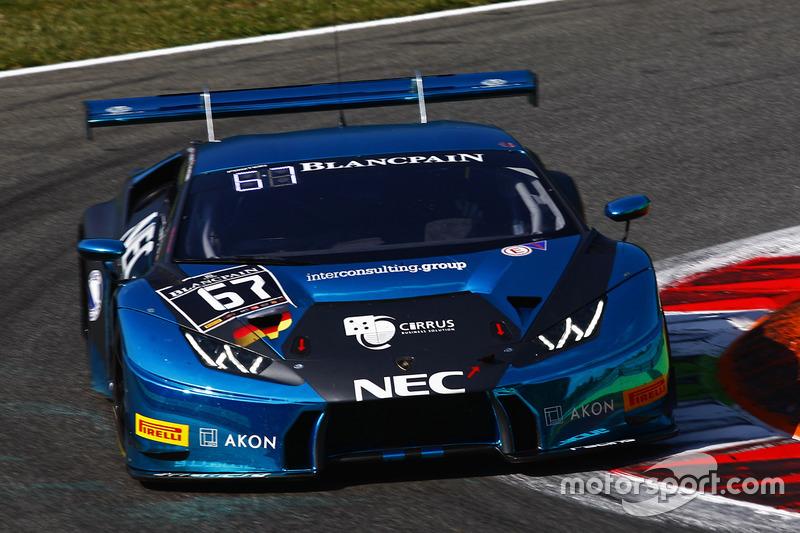 #67 Attempto Racing, Lamborghini Huracan GT3: Max van Splunteren, Clément Mateu, Giorgio Maggi