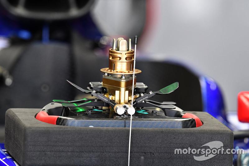 Scuderia Toro Rosso STR12 steering wheel detail