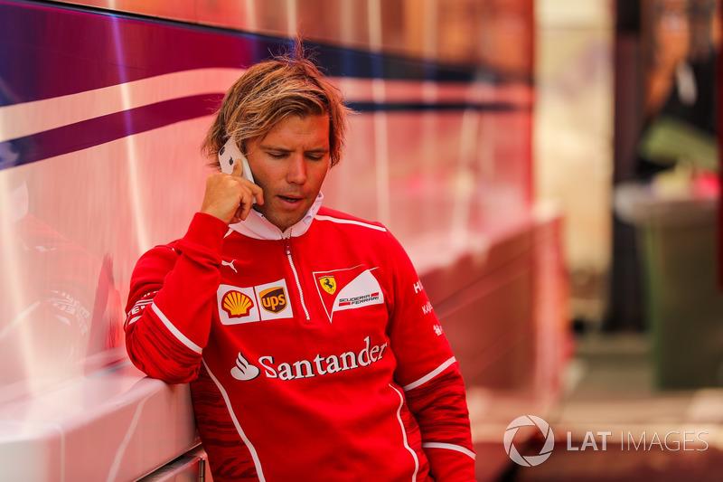 Antti Kontsas, trainer to Sebastian Vettel, Ferrari