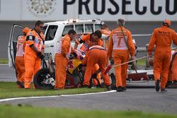 Bike of Stefan Bradl, Honda World Superbike Team after his crash