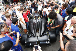 The new 2018 F2 car in the paddock