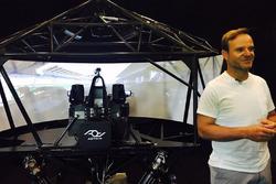 Rubens Barrichello mit dem AOTech-Simulator
