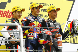 Podium: winner Marc Marquez, second place Tomoyoshi Koyama, third place Sandro Cortese