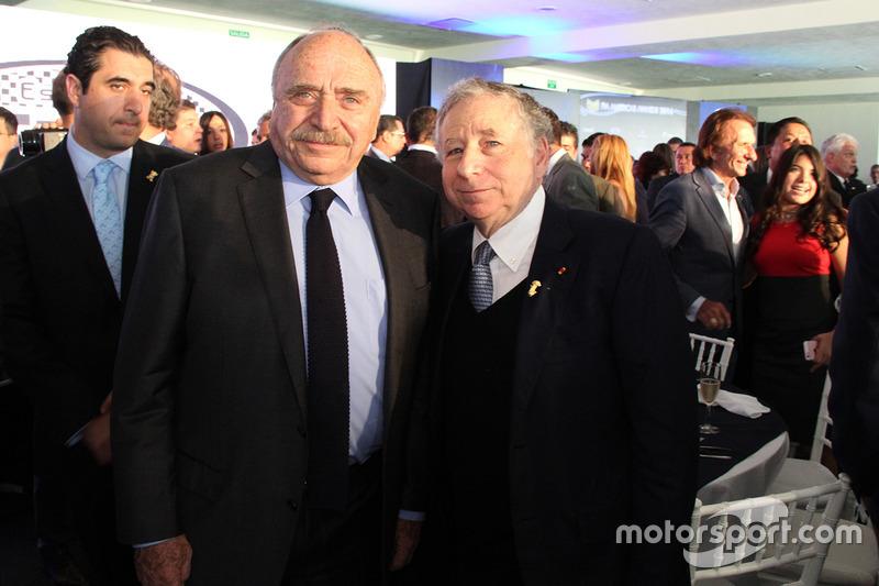 José Abed, Vice presidente FIA México y Jean Todt, presidente de FIA