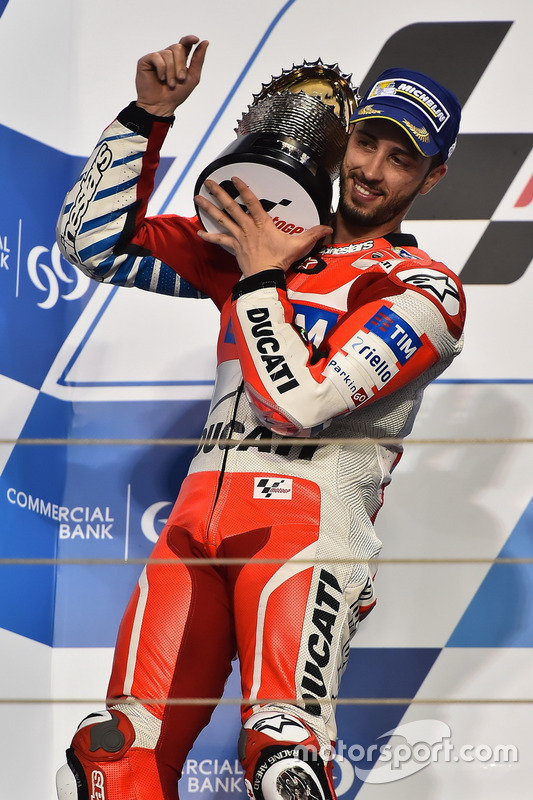 Podium: second place Andrea Dovizioso, Ducati Team, Ducati