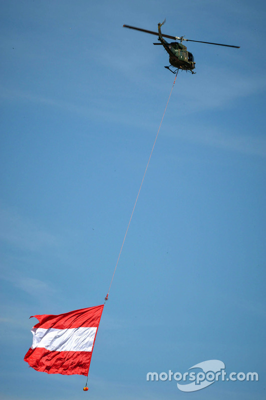 Helicopter with Austrian flag