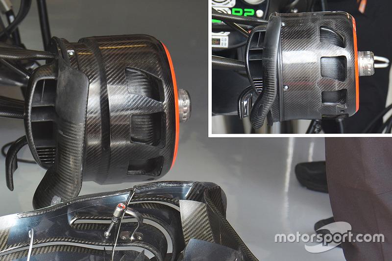 McLaren front brake duct comparison