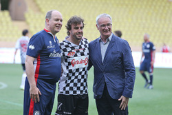 HSH Prince Albert of Monaco, Fernando Alonso, McLaren and Claudio Ranieri, Leicester City Manager at