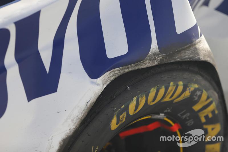 Unfallauto von Trevor Bayne, Roush Fenway Racing, Ford