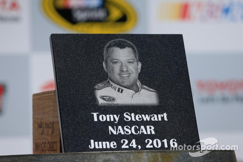 Tony Stewart, Stewart-Haas Racing, Sonoma Raceway Wall Of Fame