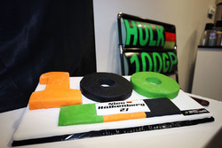 The Sahara Force India F1 Team celebrate 100 Grands Prix with a cake for Nico Hulkenberg, Sahara For