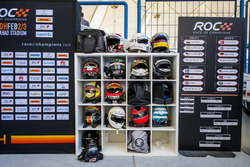 The drivers helmets and the competition draw