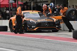 CRP Racing Mercedes-AMG GT3: Daniel Morad pit stop
