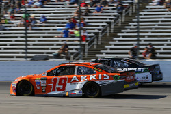 Daniel Suarez, Joe Gibbs Racing Toyota, Joey Gase, Tommy Baldwin Racing Chevrolet