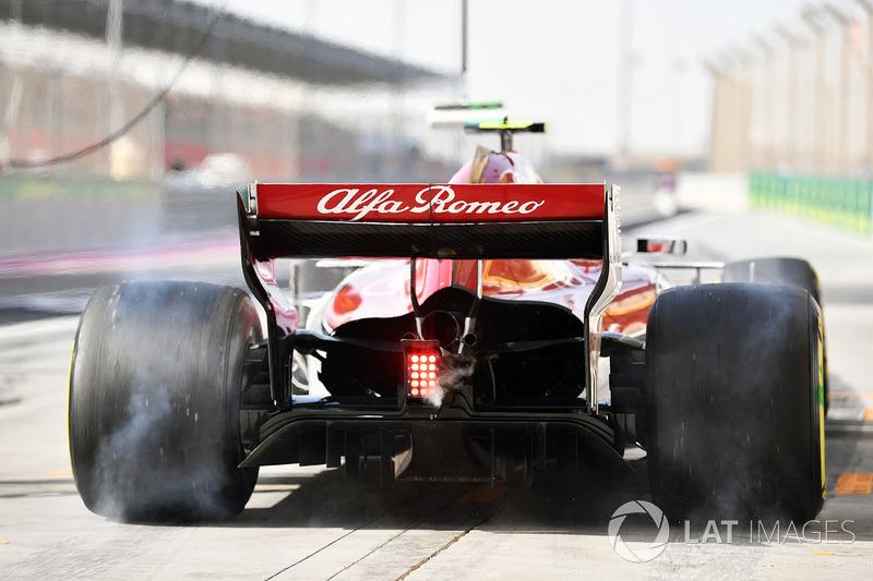 Charles Leclerc, Sauber C37 burnout