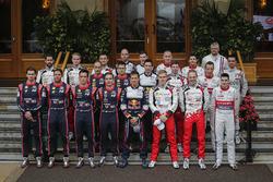 2018 WRC drivers group photo