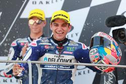 Sur le podium : le vainqueur Jorge Martin, Del Conca Gresini Racing Moto3