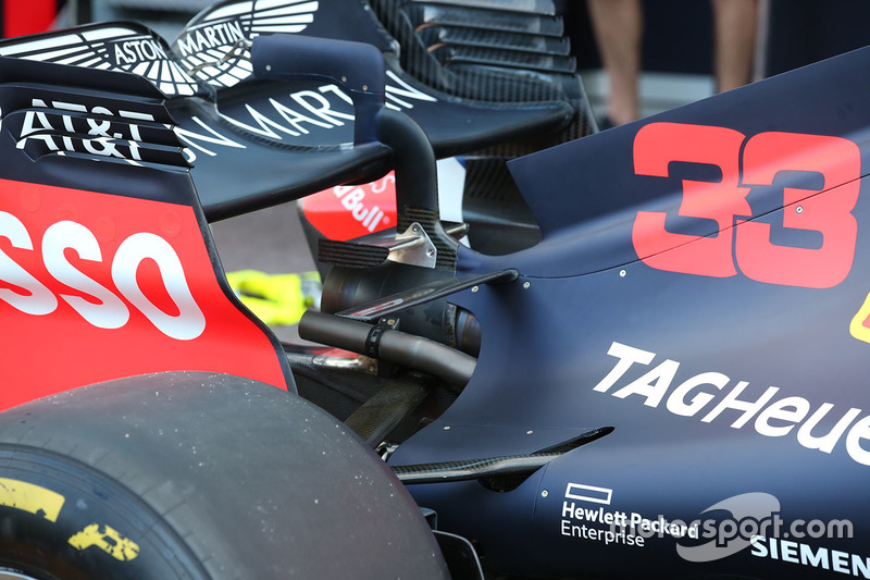 Detalle trasero del Red Bull Racing RB14