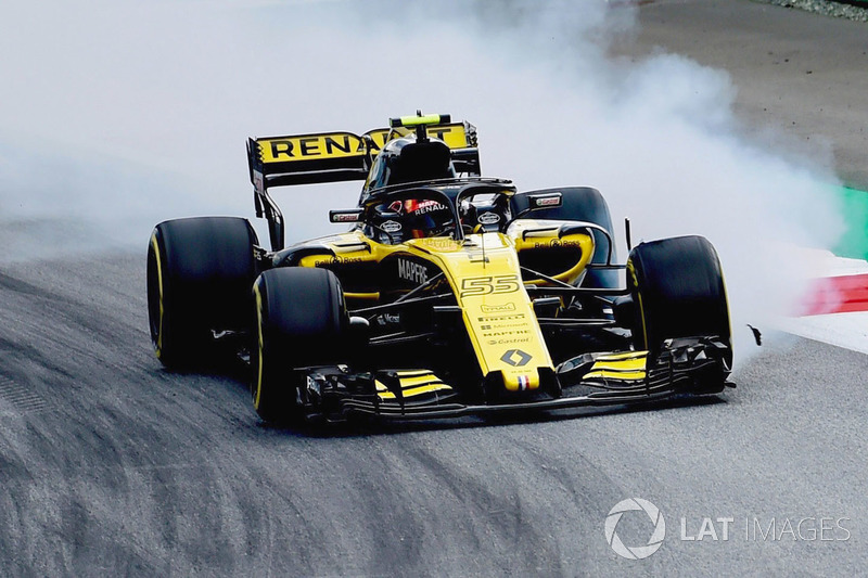 Carlos Sainz Jr., Renault Sport F1 Team R.S. 18 locks up