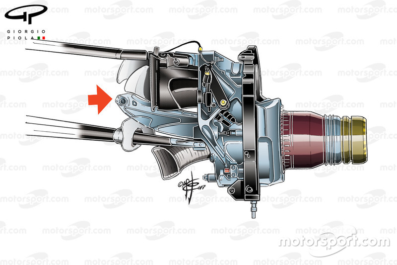 Red Bull RB13 push rod suspension