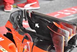 Kimi Raikkonen, Ferrari SF71H, dettaglio dell'ala anteriore