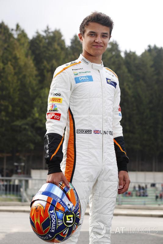 Lando Norris, McLaren, prepares to drive in FP1
