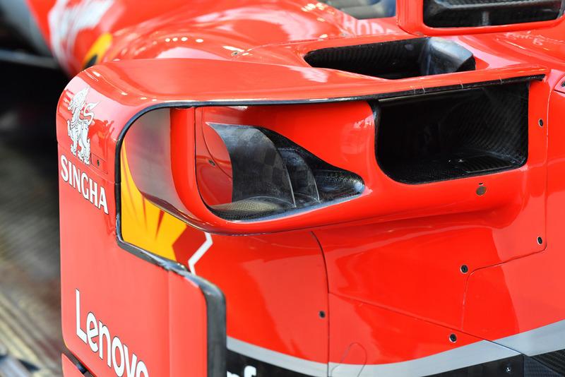 Ferrari SF71H sidepod