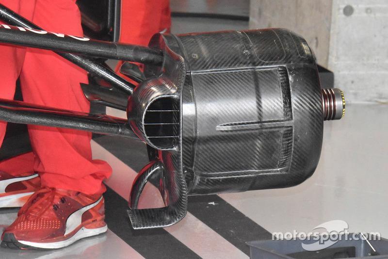 Detalle del conducto de freno del Ferrari SF71H