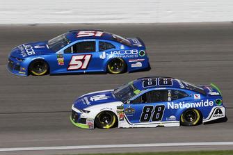Alex Bowman, Hendrick Motorsports, Chevrolet Camaro Nationwide and B.J. McLeod, Rick Ware Racing, Ford Fusion Jacob Companies