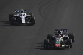 Romain Grosjean, Haas F1 Team VF-18 and Sergey Sirotkin, Williams FW41