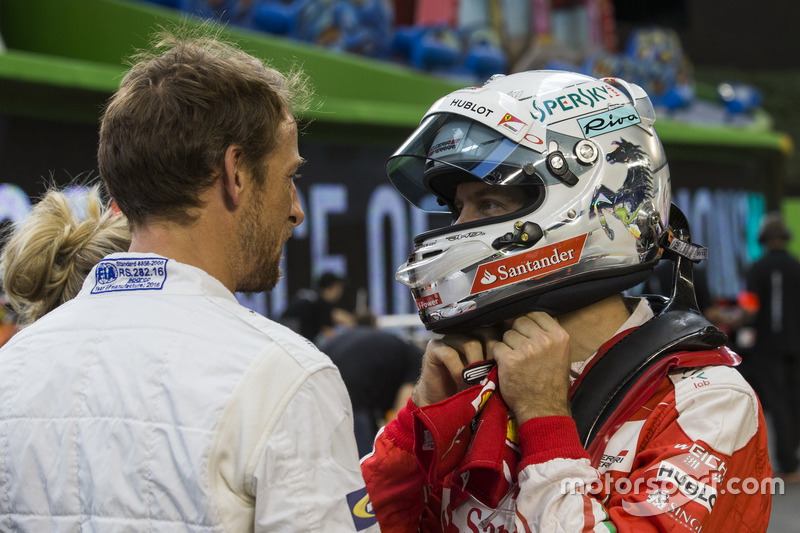 Sebastian Vettel y Jenson Button
