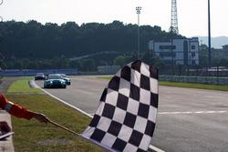 Checkered flag for Jean-Karl Vernay, Leopard Racing Team WRT, Volkswagen Golf GTi TCR