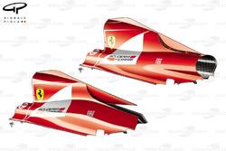 Ferrari F150 engine covers comparison
