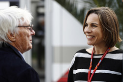 Bernie Ecclestone mit Claire Williams, stellvertetende Williams-Teamchefin