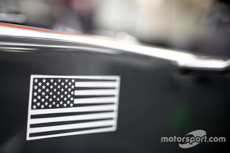 US flag on the Haas F1 Team VF-17