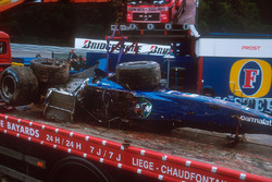 Luciano Burti, Prost AP04 chassis after his accident