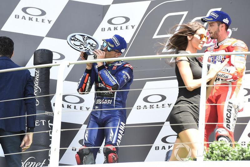 Подіум: друге місце Маверік Віньялес, Yamaha Factory Racing